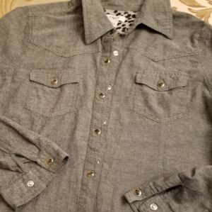 Cato Button-down/Snap Shirt, Size Large